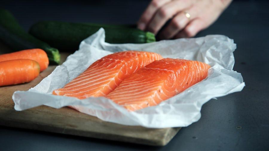 salmon, sport children