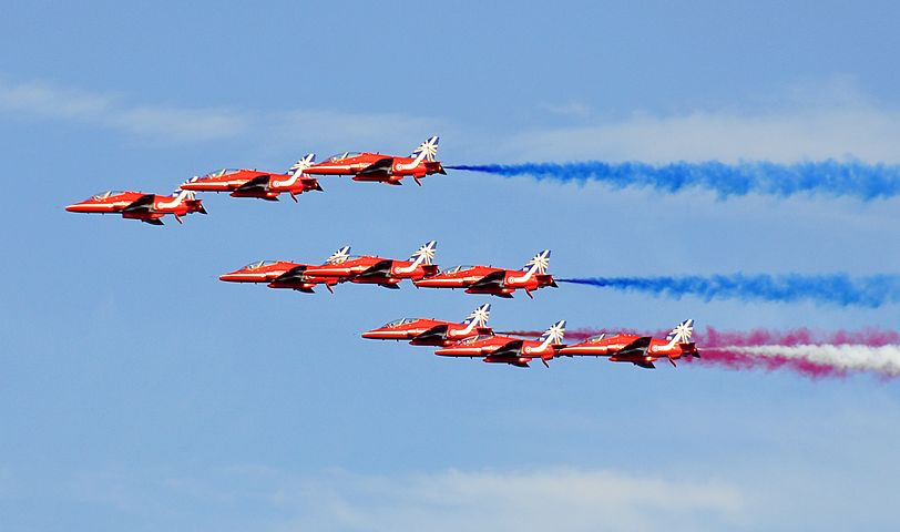 red arrows, teamwork, communication, vision, high performance
